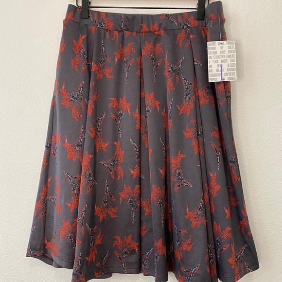 NWT Women's Lularoe Madison Skirt with Pockets Lg